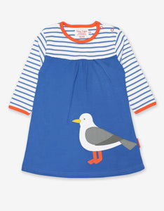 Organic Seagull Applique Dress
