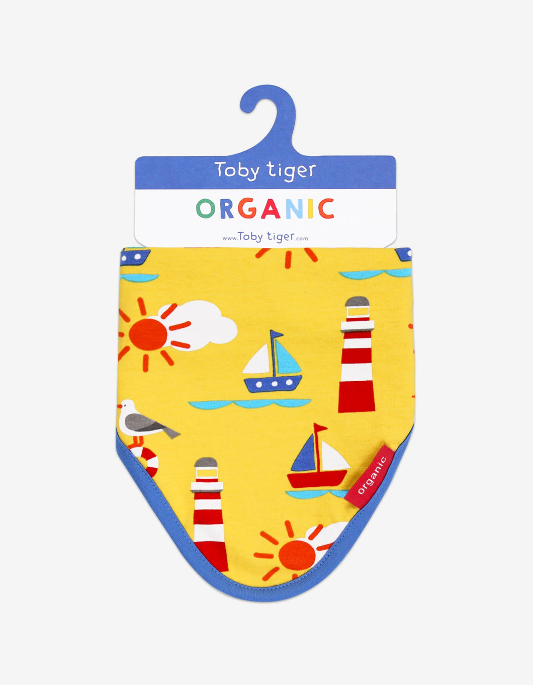 Organic Seaside Print Dribble Bib