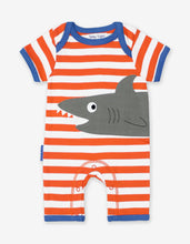 Load image into Gallery viewer, Organic Shark Applique Romper