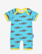 Load image into Gallery viewer, Organic Shark Print Romper