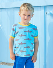 Load image into Gallery viewer, Organic Shark Print T-Shirt