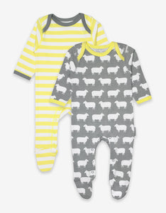 Organic Sheep 2-Pack Babygrow
