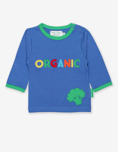 Organic Slogan Applique T-Shirt