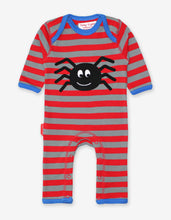 Load image into Gallery viewer, Organic Spider Applique Sleepsuit