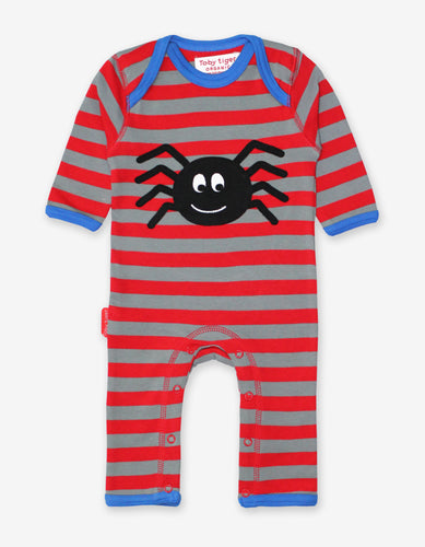 Organic Spider Applique Sleepsuit
