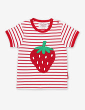 Load image into Gallery viewer, Organic Strawberry Applique T-Shirt