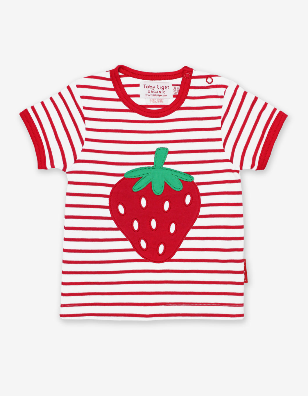 Organic Strawberry Applique T-Shirt