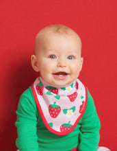 Load image into Gallery viewer, Organic Strawberry Dribble Bib