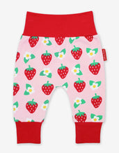 Load image into Gallery viewer, Organic Strawberry Flower Yoga Pants