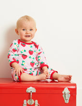 Load image into Gallery viewer, Organic Strawberry Print Sleepsuit
