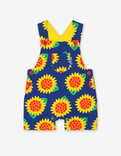 Load image into Gallery viewer, Organic Sunflower Dungaree Shorts