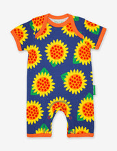 Load image into Gallery viewer, Organic Sunflower Print Romper