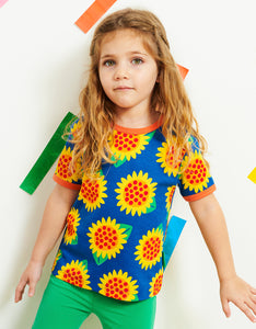 Organic Sunflower Print T-Shirt