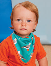 Load image into Gallery viewer, Organic Teal Seagull Print Dribble Bib