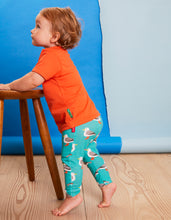Load image into Gallery viewer, Organic Teal Seagull Print Leggings