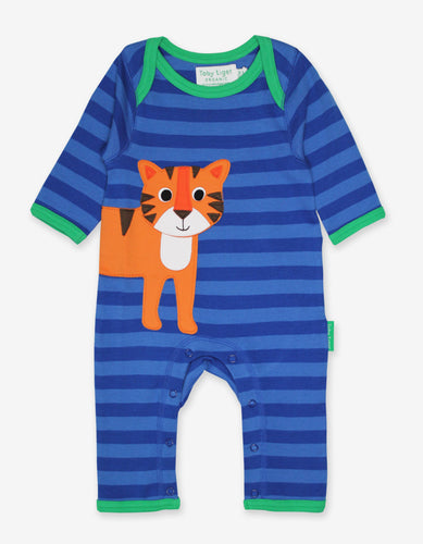 Organic Tiger Applique Sleepsuit