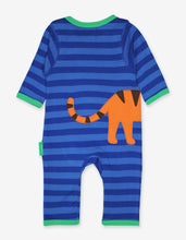 Load image into Gallery viewer, Organic Tiger Applique Sleepsuit
