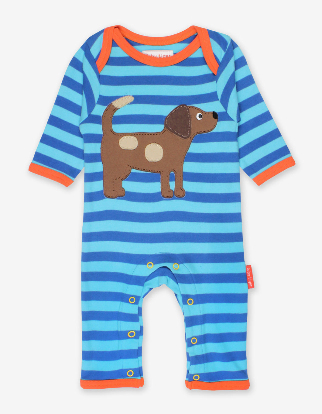Organic Toby Dog Applique Sleepsuit
