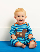 Load image into Gallery viewer, Organic Toby Dog Applique Sleepsuit