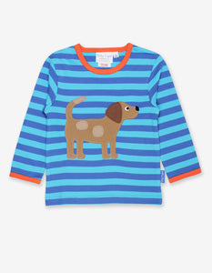 Organic Toby Dog Applique T-Shirt