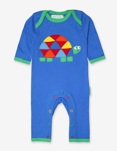 Organic Tortoise Applique Sleepsuit