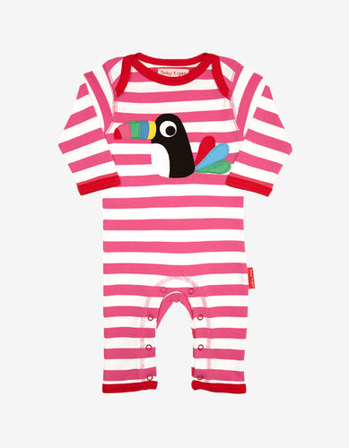 Organic Toucan Applique Sleepsuit