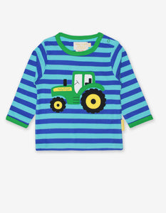 Organic Tractor Applique T-Shirt