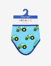 Load image into Gallery viewer, Organic Tractor Print Dribble Bib