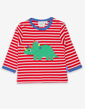 Load image into Gallery viewer, Organic Triceratops Applique T-Shirt