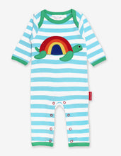 Load image into Gallery viewer, Organic Turtle Applique Sleepsuit