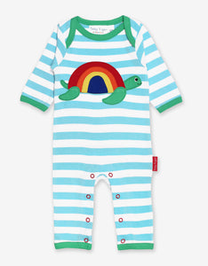 Organic Turtle Applique Sleepsuit