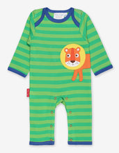 Load image into Gallery viewer, Organic Walking Lion Applique Sleepsuit
