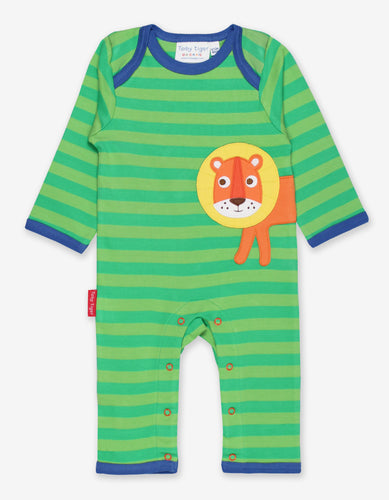 Organic Walking Lion Applique Sleepsuit