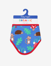 Load image into Gallery viewer, Organic Woodland Print Dribble Bib
