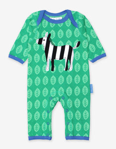 Organic Zebra Applique Sleepsuit