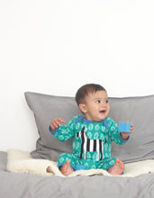 Load image into Gallery viewer, Organic Zebra Applique Sleepsuit