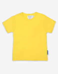 Organic Yellow Basic T-Shirt