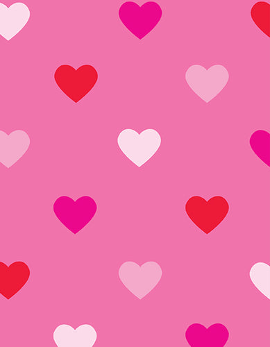 Pink Heart Wrapping Paper