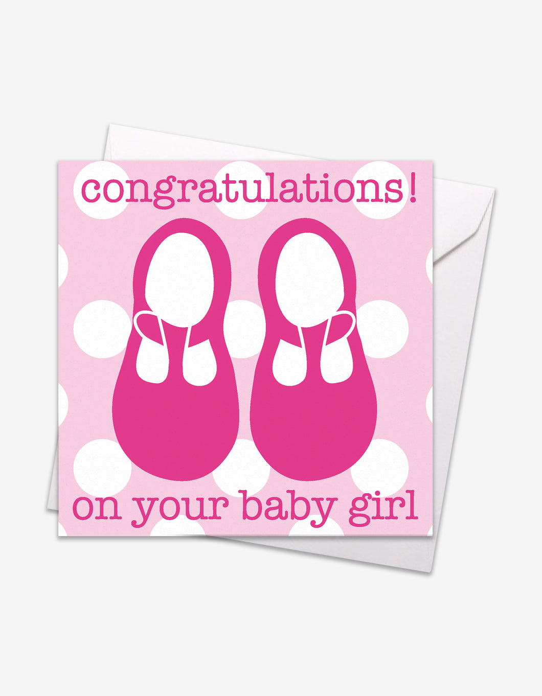 Pink Shoes Baby Card