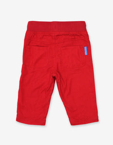 Red Cord Baby Trousers