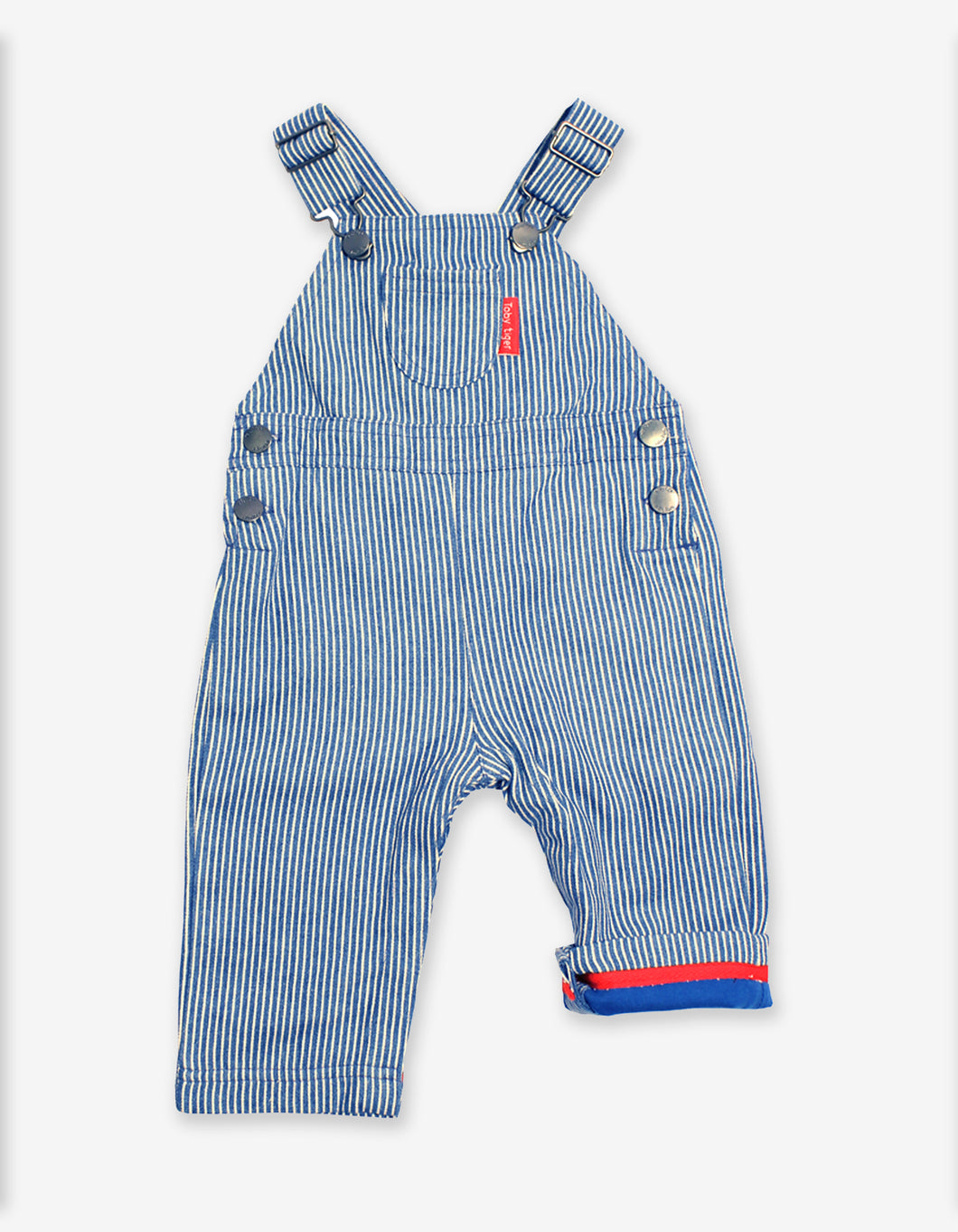 Striped Denim Dungarees