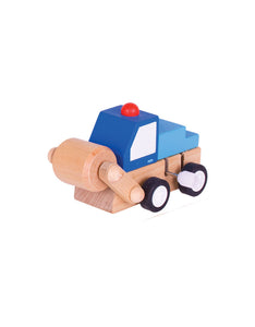 Wooden Blue Wind Up Vehicle