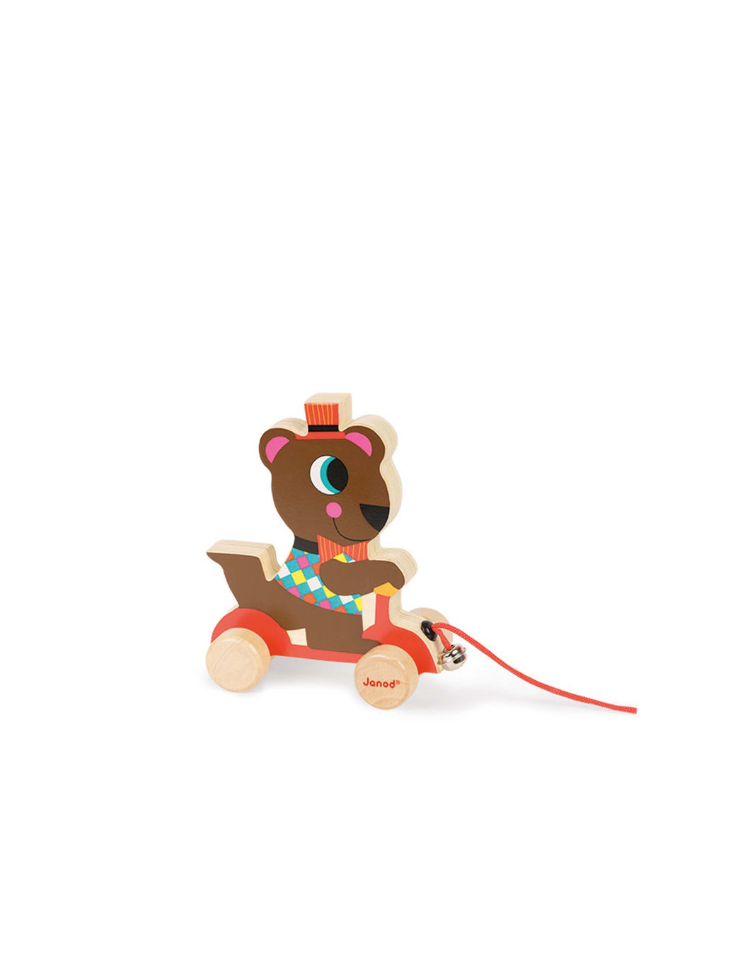 Wooden Circus Pullalong- Bear
