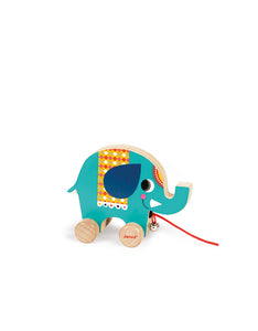 Wooden Circus Pullalong- Elephant