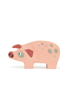 Wooden Farmyard Animal - Pig