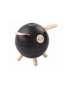 Wooden Piggy Bank - Black
