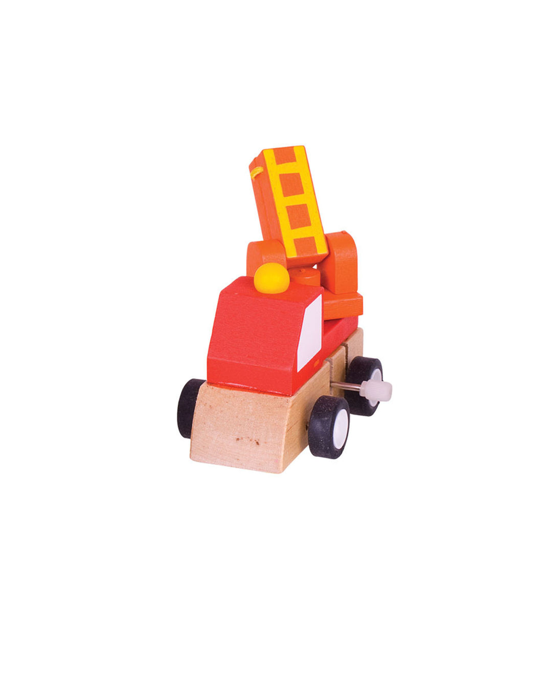 Wooden Red Wind Up Vehicle