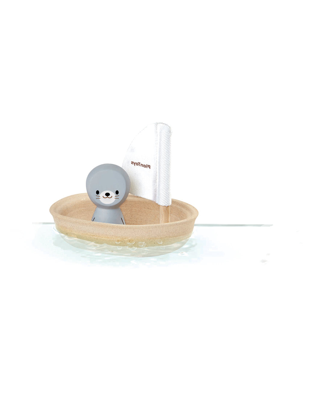Wooden Sailing Boat Bath Toy -Seal