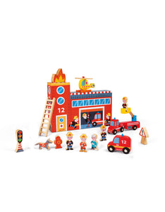 Wooden Story Box Firefighters
