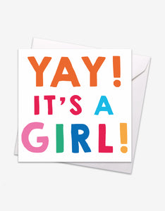 YAY! It's a Girl Card